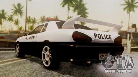 Elegy Saitama Prefectural Police para GTA San Andreas esquerda vista