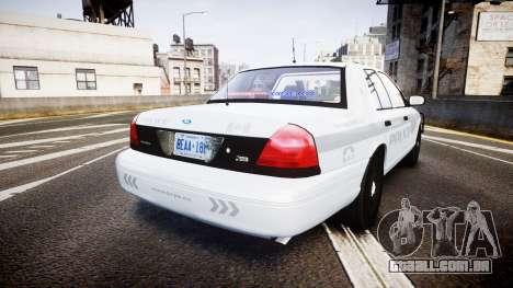Ford Crown Victoria Bohan Police [ELS] unmarked para GTA 4 traseira esquerda vista