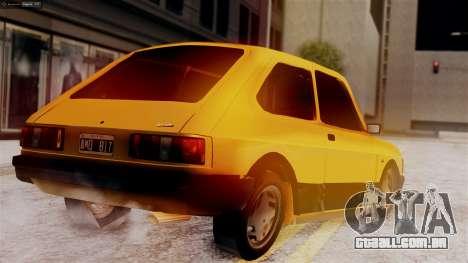 Fiat 147 Al Piso para GTA San Andreas esquerda vista