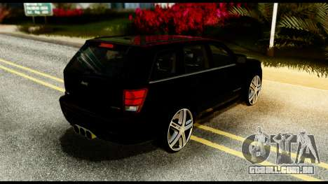 Jeep Grand Cherokee SRT8 Restyling M Final para GTA San Andreas traseira esquerda vista