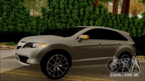 Acura RDX 2009 para vista lateral GTA San Andreas