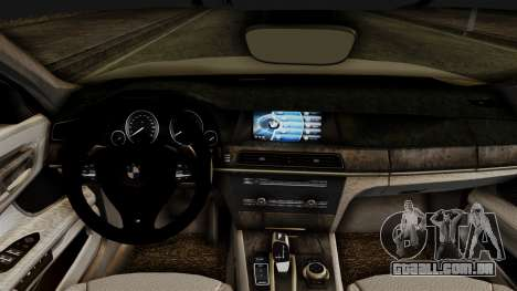BMW 7 Series F02 2012 para GTA San Andreas vista direita