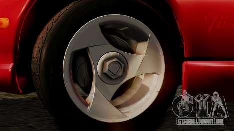 Dodge Viper RT 10 1992 para GTA San Andreas traseira esquerda vista