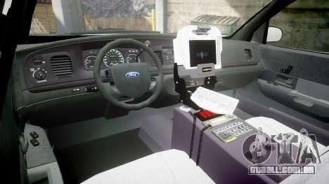 Ford Crown Victoria Bohan Police [ELS] unmarked para GTA 4 vista de volta