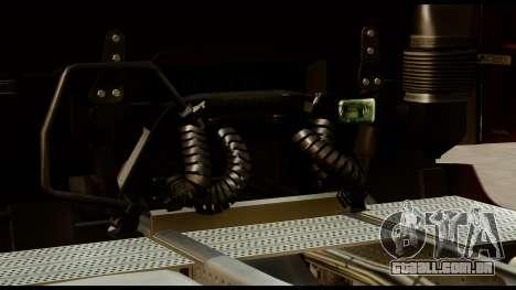 Mercedes-Benz Actros MP4 4x2 Standart Interior para GTA San Andreas vista traseira