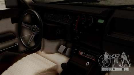 Renault 11 Turbo para GTA San Andreas vista direita