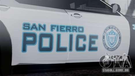 Hunter Citizen Police SF IVF para GTA San Andreas vista direita