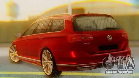 Volkswagen Passat Variant R-Line para GTA San Andreas esquerda vista