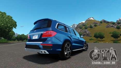 Mercedes-Benz GL 63 AMG para GTA 4 traseira esquerda vista