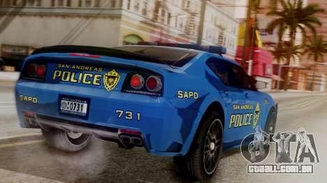 Hunter Citizen SAPD IVF para GTA San Andreas esquerda vista