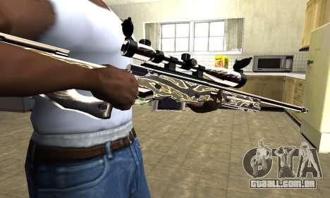 Gold Dragon Sniper Rifle para GTA San Andreas
