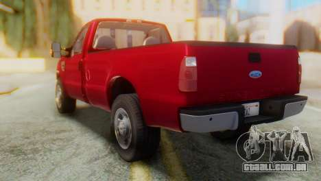 Ford F-350 Super Duty Táxi Regular de 2008 FIV А para GTA San Andreas traseira esquerda vista