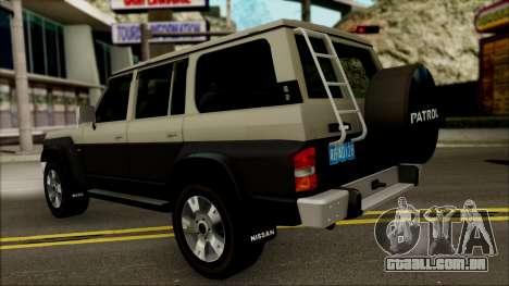 Nissan Patrol Y60 para GTA San Andreas vista direita