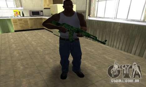 Ganja АК-47 para GTA San Andreas terceira tela