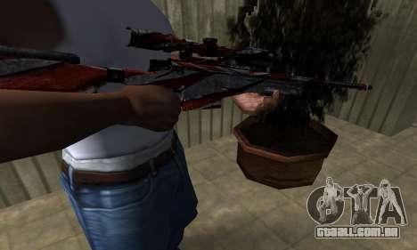 Red Flag Sniper Rifle para GTA San Andreas segunda tela