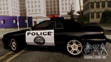 Police Elegy para GTA San Andreas traseira esquerda vista