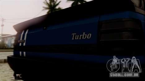 Renault 11 Turbo para GTA San Andreas vista traseira