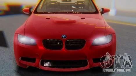 BMW M3 E92 2008 para GTA San Andreas vista direita