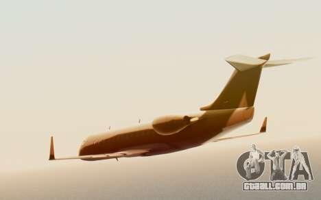Buckingham Starjet v1.0 para GTA San Andreas traseira esquerda vista