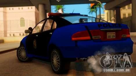 Police HSV VT GTS SA Style para GTA San Andreas esquerda vista