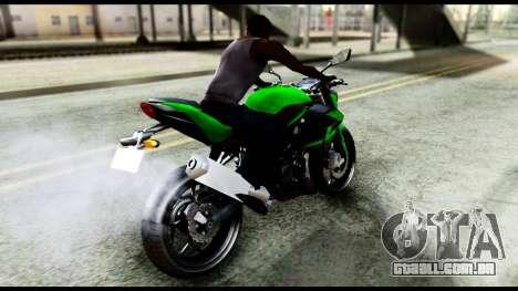 Kawasaki Z250SL Green para GTA San Andreas