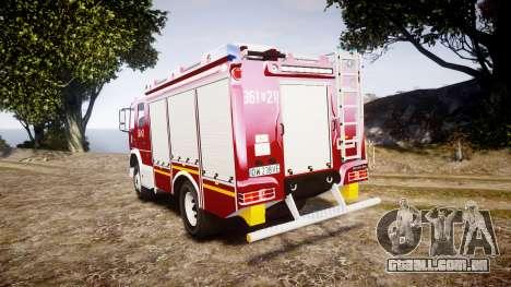 Mercedes-Benz Atego 1530 Firetruck [ELS] para GTA 4 traseira esquerda vista