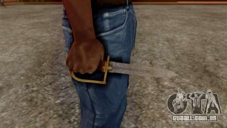 GTA 5 Antique Cavalry Dagger v1 para GTA San Andreas terceira tela
