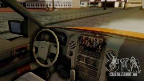 Ford F-150 Sport para GTA San Andreas traseira esquerda vista