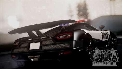 NFS Rivals Koenigsegg Agera R para GTA San Andreas esquerda vista