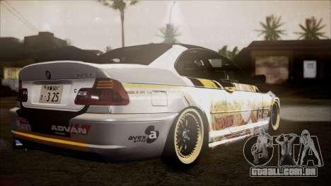 BMW 325t E46 LCI SAO Itasha para GTA San Andreas esquerda vista