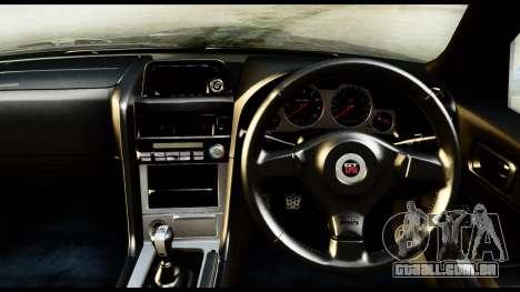 Nissan Skyline GT-R (BNR34) Tuned para GTA San Andreas vista direita
