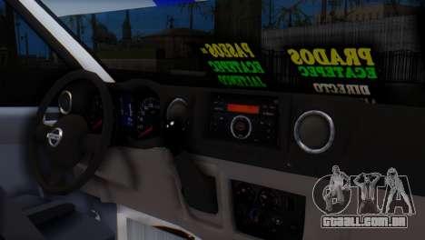 Nissan Urvan NV350 para GTA San Andreas vista direita