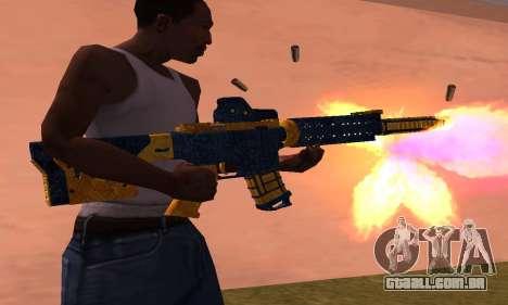 M4 BlueYellow para GTA San Andreas segunda tela