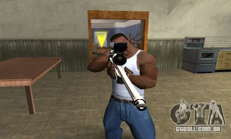 Gold Dragon Sniper Rifle para GTA San Andreas segunda tela