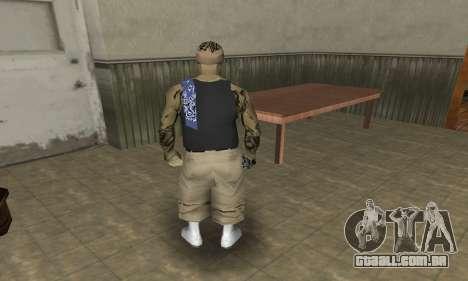 Rifa Skin Third para GTA San Andreas quinto tela