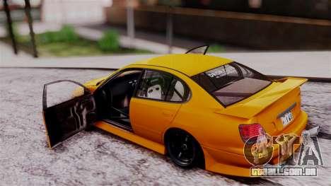 Toyota Aristo para GTA San Andreas vista traseira