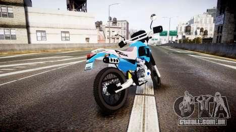 Honda XR 200 para GTA 4 traseira esquerda vista