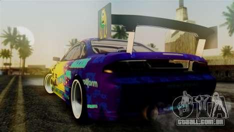 Nissan Silvia S14 Kouki Matt Faileds para GTA San Andreas esquerda vista
