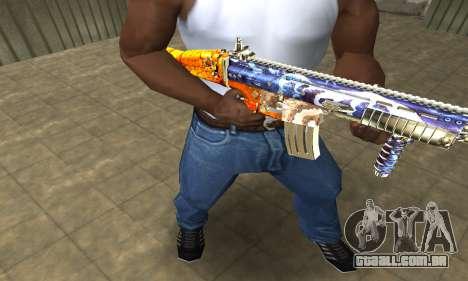 M4 Fish Power para GTA San Andreas segunda tela