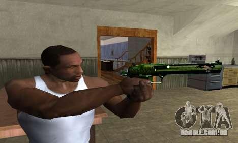 Green Clayn Deagle para GTA San Andreas terceira tela