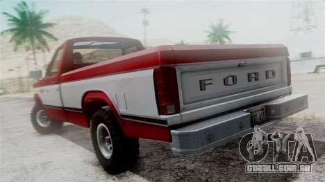 Ford F-150 Ranger 1984 para GTA San Andreas vista traseira