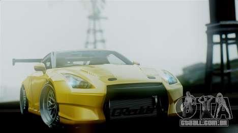 Nissan GT-R R35 Bensopra 2013 para GTA San Andreas vista interior