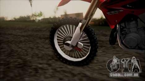 Honda CR125 para GTA San Andreas