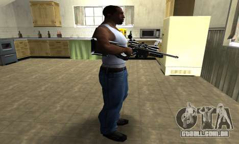 Full Black Sniper Rifle para GTA San Andreas terceira tela