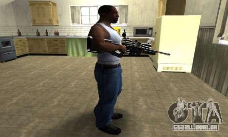 Full Black Sniper Rifle para GTA San Andreas terceira tela