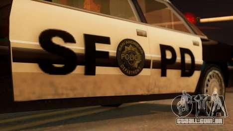 Police SF Intruder para GTA San Andreas vista direita