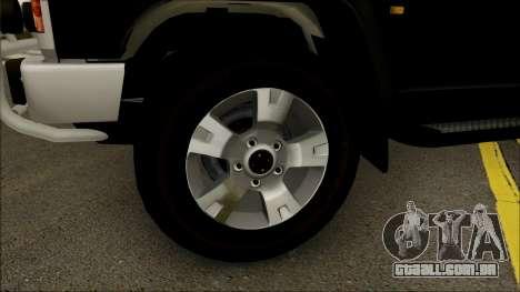 Nissan Patrol Y60 para GTA San Andreas vista traseira