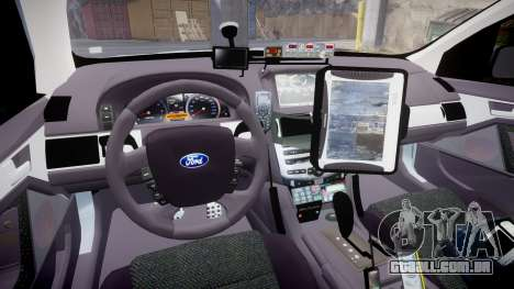 Ford Falcon FG XR6 Turbo Police [ELS] para GTA 4 vista de volta