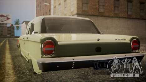 Ford Falcon 3.0 para GTA San Andreas esquerda vista