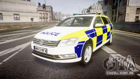Volkswagen Passat B7 North West Police [ELS] para GTA 4